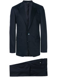 Dolce And Gabbana Single Breasted Suit Blue