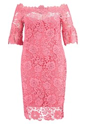 Paper Dolls Curvy Cocktail Dress Party Dress Coral Pink