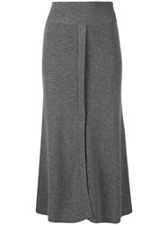 Cashmere In Love Blend Knitted Skirt Grey