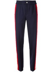 Gucci Snap Button Trousers Blue