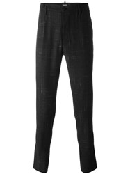 Dsquared2 Etched Stripe Slim Trousers Black
