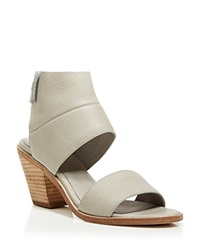 Eileen Fisher Ankle Cuff Sandals Art Block Heel Stone