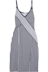 Splendid Striped Voile Midi Dress Navy