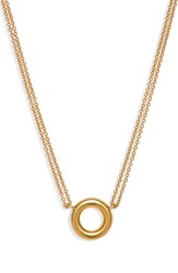 Madewell Circle Chain Necklace Vintage Gold