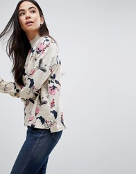 B.Young Floral Printed Blouse Combi 1 Multi
