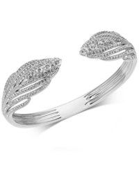 Danori Crystal And Pave Hinged Bangle Bracelet Clear