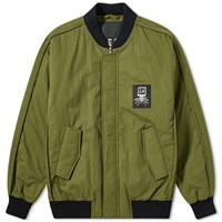 Liam Hodges Override Bomber Jacket Green