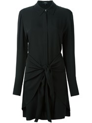 Theory Wrap Around Shirt Dress Black