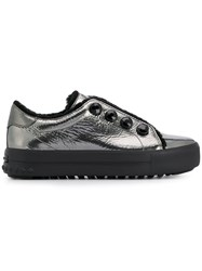 Kennel Schmenger And Metallic Lace Up Sneakers Silver