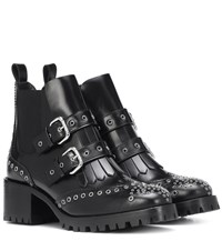 4d4dab9c8 Red Valentino Studded Leather Ankle Boots Black
