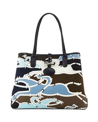 Longchamp Roseau Galop Tote Bag Pilot Blue