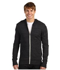 Alternative Apparel L S Zip Hoodie Eco Black Men's Sweatshirt