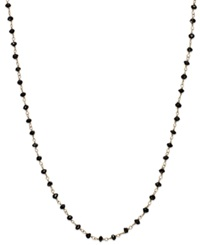 Macy's Black Diamond Necklace In 14K White Gold 6 Ct. T.W.