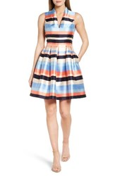 Vince Camuto Women's Pleated Fit And Flare Dress