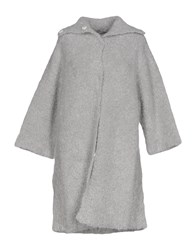 Atos Lombardini Overcoats Light Grey