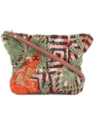 Jamin Puech Beaded Shoulder Bag Green