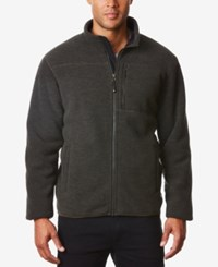 32 Degrees Men's Full Zip Fleece Jacket Iris Leaf