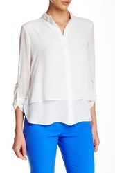 T Tahari Maverick Blouse White