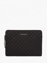 Want Les Essentiels Black Quilted Leather Portfolio