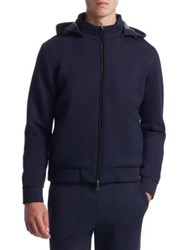 Saks Fifth Avenue Collection Scuba Track Jacket Navy