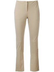 Theory Tennyson Skinny Trousers Nude Neutrals