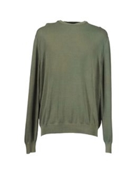 Andrea Morando Crewneck Sweaters Military Green