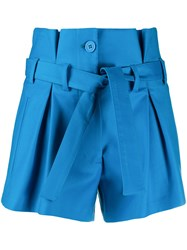 Attico Paperbag Waist Pleated Shorts 60