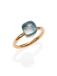 Pomellato Nudo Blue Topaz And 18K Rose Gold Small Ring Rose Gold Topaz