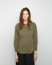 Etoile Isabel Marant Wigston Double Pocket Shirt Khaki