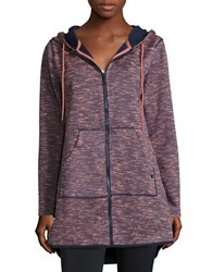 Bench Space Dyed Zip Up Hoodie Blue