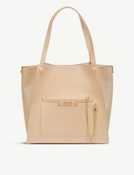 Folli Follie On The Go Textured Faux Leather Tote Bag Beige