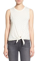 Joe's Jeans Women's Joe's 'Star' Knot Front Cotton Tank