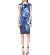 Karen Millen Wisteria Fitted Pencil Dress Multi Coloured