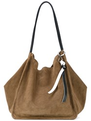 Proenza Schouler Extra Large Tote Women Leather Suede One Size Green
