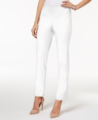 Charter Club Petite Comfort Waist Ankle Pants Only At Macy's Bright White
