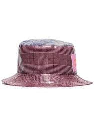 Natasha Zinko Metallic Check Print Bucket Hat Pink