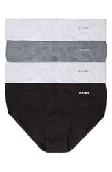 2Xist Men's 2 X Ist 4 Pack Bikini Briefs Heather Grey White Black