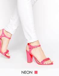 Lipsy Becca Embellished Barely There Sandals Pink