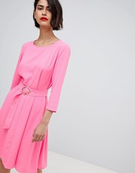 2Nd Day 2Ndday 60'S Belted Flippy Dress Pink