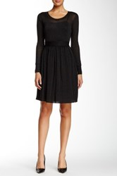 Orla Kiely Long Sleeve Dress Black