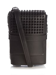 Christian Louboutin Bench Spikes Leather Messenger Bag