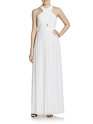 Alice Olivia Jaelyn Crossover Top Maxi Dress White