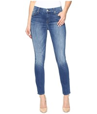 7 For All Mankind The Ankle Skinny In Newcastle Broken Twill Newcastle Broken Twill Women's Jeans Blue