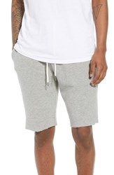 The Rail Ribbed Ottoman Shorts Grey Heather