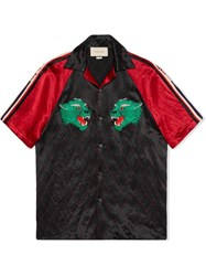 Gucci Panther Bowling Shirt Black