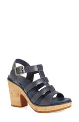 Women's Timberland 'Roslyn' Platform Sandal Navy Leather