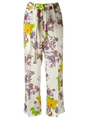 Etro Floral Print Trousers White