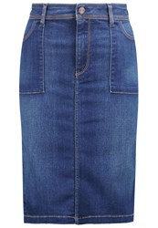 Teddy Smith Josefa Denim Skirt Vintage Blue Denim