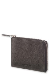 Moleskine Men's Lineage Leather Zip Wallet Black