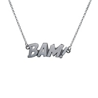 Edge Only Bam Letters Necklace Large Silver